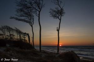 Sunset at West Beach in Prerow