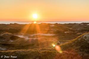 Sunset Over Amrum Dunes